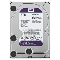 """HD Dvr 2TB Wd Purple 3.5"""" 5400RPM 64MB Cachê Sata3 - Loja Dado Digital"""