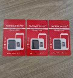 Cartão de memória 128gb + adaptador - novo