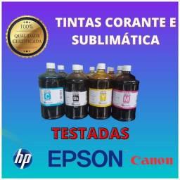 Tintas Para Impressoras_ Kit 4 litros_EPSON / Hp/ Canon_ Tintas Corante e Sublimática