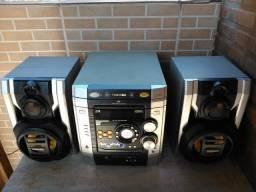 Mini System Toshiba + Micro-ondas Consul 25 Litros ambos com defeito