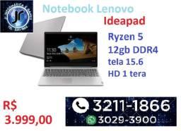 "Notebook lenovo - ideapad- AMD Ryzen 5 12GB - 1TB HD 15,6"""