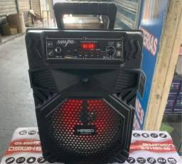 -Caixa de Som Kimiso Karaoke Wireless Bluetooth QS-5801 C/D<br><br>