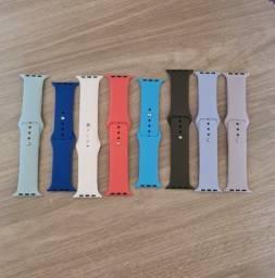 Pulseira de silicone smartwatch iwo apple watch 42mm 44mm