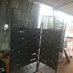 Ademar Serralheria vende estes portão de 320 de largura por 225 de altura  chapa 18 1700