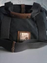bolsa reserva carteiro lona e couro