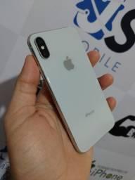 Título do anúncio: IPhone X 64gb Branco Semi novo completo Troco ou vendo