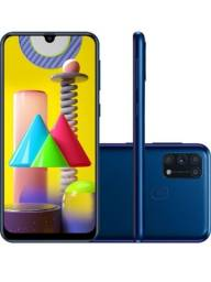 Samsung M31 LACRADO azul 6 Gg Ram, 128Gb,selfie 32M traseira 64+8+8+20 Octacore