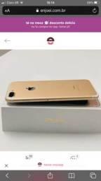 Título do anúncio: iPhone 7 Plus dourado em perfeito estado