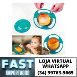 Título do anúncio: Prato Giratório Criança * Comida não cai * Fazemos Entregas