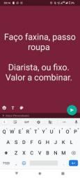 FAÇO FAXINA E PASSO ROUPA