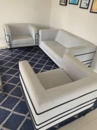 Conjunto 1 sofá e 2 poltronas
