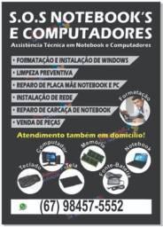 Formatação em Notebooks e Computadores