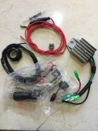 Kit carregador bateria popa Yamaha 15hp