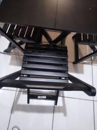 Conjunto de mesas dobráveis 70x70