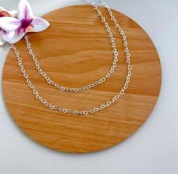 Título do anúncio: Colar prata 925 com elos de coração