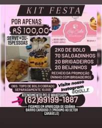 Título do anúncio: KIT FESTA bolos, doces, salgados 100,00$