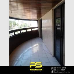 Título do anúncio: Apartamento com 4 dormitórios para alugar, 215 m² por R$ 4.900/mês - Manaíra - João Pessoa