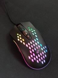 Título do anúncio: Mouse Gamer RGB, 6400dpi ajustável, Botões Laterais, Programável K-Mex M370 Frete Grátis