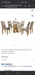 Título do anúncio: Conjunto de mesa com 6 cadeiras