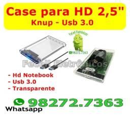 Case para HD Original Knup Transforma Hd Em Hd Externo