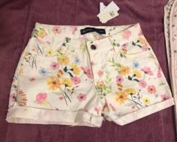 Short jeans florido Hering