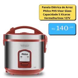 Panela Elétrica de Arroz Philco  5 Xícaras  Vermelho/Inox 127V