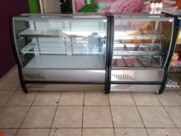Vendo ou troco Balcão refrigerado e balcão estufa