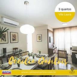 Cecília Gantois, apartamento 3 quartos, na Vila Laura. R$ 380 MIL