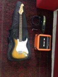 Kit guitarra + caixa + cabo+ capa.etc