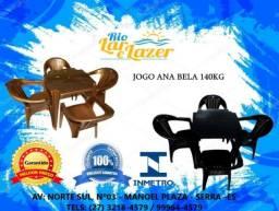Jogo de Cadeiras Poltronas+Mesa 140KG