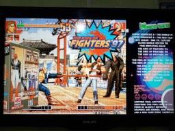 Game Retro com 9.555 jogos + 32gb HDMI + 2 controles - completo