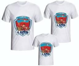 Kit camiseta Personalizada Sublimação Patrulha Canina e0af08e5d61