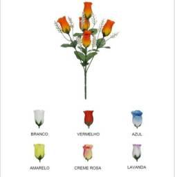 Buquê de Rosas Botão Aberto x5 33cm com complemento Gypso comprar usado  Recife