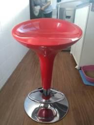 Cadeira banqueta para cozinha americana vermelha, usado comprar usado  Belo Horizonte