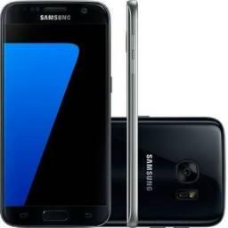 Galaxy S7Edge 128gb black piano pouco uso