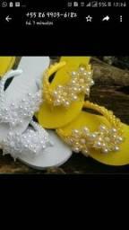 Sandália feminina havaianas decoradas comprar usado  Teresina