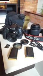 Câmera Profissional Canon 70D + Lentes e acessórios