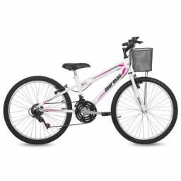 Vendo bicicleta Mormaii Feminina aro 24. Nova, revisão em dia.
