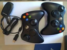Dois Controle sem fio original Microsoft para xbox 360 / Computadores