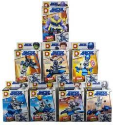 Blocos De Montar Avengers Ultimato 268 Peças Kit 8x Legos