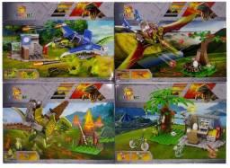 Blocos De Montar Jurassic 418+peças Kit 4 Modelos Diferentes
