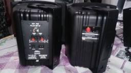 Kit NOVO c\ Nota Fiscal, 4 Caixas Acústicas Frahm Ps6 Plus Ativa+Passiva 240w RMS