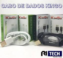 Cabo de dados Kingo 2.1a (suporta turbo) iphone / tipo c / v8