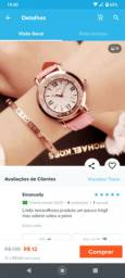 Promoção relógio Quartz feminino pra levar hoje de 90 por 70 reais. Vem com brinde.