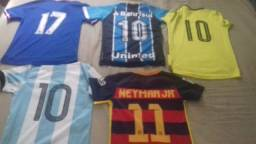 Camisas clubes nacional e internacional