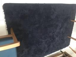 Tapete de luxo pelúcia azul marinho