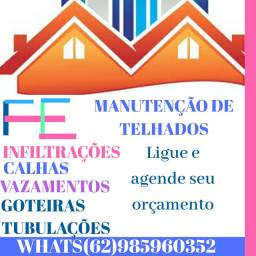 F.e manutenção de telhados