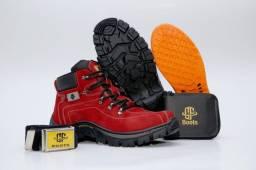 Bota Adventure Boots - Couro Sintético. Várias cores