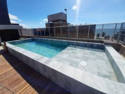 CÓD:FL0043-Flat no Cabo branco, Móveis projetados, 3° Andar, 30 m², Pisc, Elev, Rest.