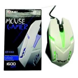 Mouse Gamer 1600dpi 3 Botões Knup Kp-v40 Branco